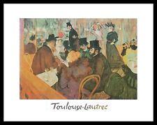 Henri Toulouse-Lautrec Das Moulin Rouge Poster Bild Kunstdruck & Rahmen 24x30cm