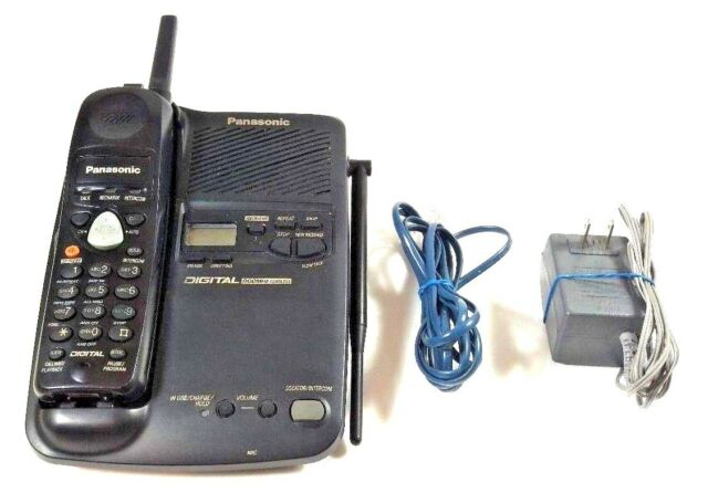 Panasonic KX TC1503B TC1503 Cordless Phone Digital Answering System 900mhz