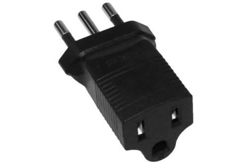 USA NEMA 5-15R Receptacle to Italy CEI 23-16 3 Prong Power Plug Adapter