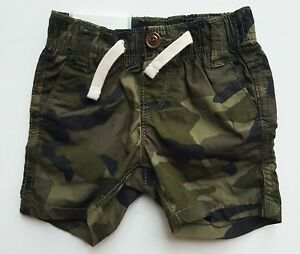 1fa2122419 Baby GAP Boys GREEN CAMO Pull On Basic Shorts Pants 0-3m £14.95 | eBay