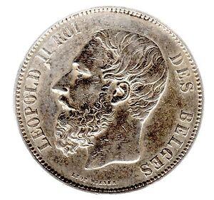 """5 Francs Belgique """"leopold Iii."""" 1873 In Ss/vz. - 2-afficher Le Titre D'origine U1vffpvk-07232050-865255807"""