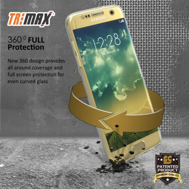 the best attitude 89819 6d7a4 Fit Samsung Galaxy S7 Edge Clear Case Cover 360 Full Body Front Back  Protector