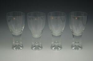 IITTALA-FINLAND-TAPIO-WIRKKALA-SET-OF-4-RED-WINE-GOBLETS-GLASSES-BUBBLE-IN-STEM