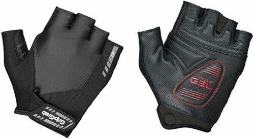 11 Nuovo Gratis P/&P GripGrab SuperGel Imbottito Breve Finger Glove//Nero taglia XL