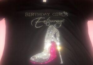 8487cf714 Image is loading Birthday-Girls-Entourage-t-shirts-birthday-shirts-pink-