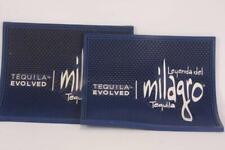 "21/"" by 3.5/"" Blue NEW ** MILAGRO TEQUILA Blue Rubber Bar Spill Mat Runner"