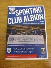 23/03/2014 West Bromwich Albione club sportivi donna V Preston NORTH End donne [