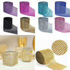 "1 Yards 4.6"" Diamond Mesh Crystal Rhinestone Wedding Wrap Roll Ribbon Charming"