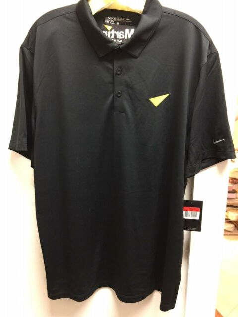 NWT Nike Golf for Martin by Harman Black Dri Fit SS Shirt sz L FS