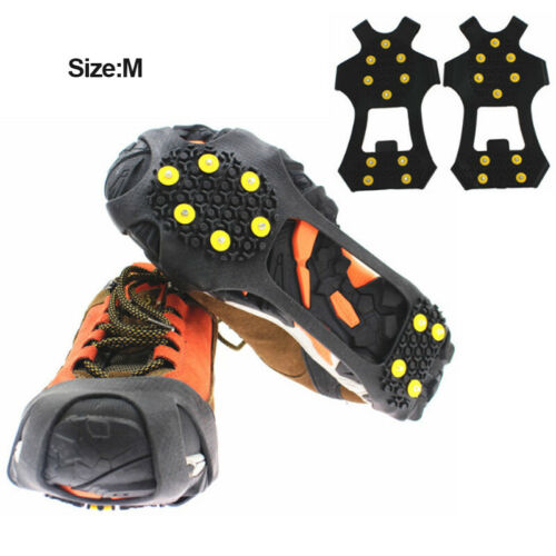 Stud Cleats Crampon  Climbing Ice Snow Spikes Grips Traction for Shoes/&Boots 10