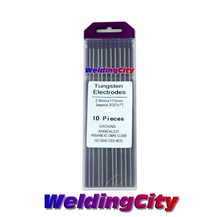"10-pk TIG Welding Tungsten Tri-Element Non-Radioactive Purple 1//16/""x7/"" US Seller"