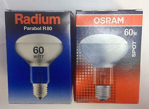 Osram-radium-concentra-60-W-230-V-e27-Reflecteur-Lampe-r80-Projecteur-Spot-80