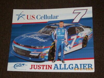 "2019 JUSTIN ALLGAIER JR MOTORSPORTS /""U.S.CELLULAR/"" #7 NASCAR XFINITY POSTCARD"