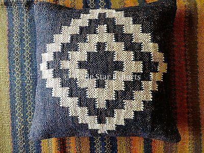 "18"" Vintage Kilim Rug Cushion Pillow Covers Handmade Kelim Jute Cushions Decor"