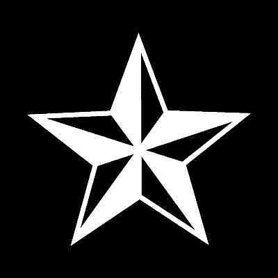 NAUTICAL STAR Vinyl Decal 3 Sizes, 12 Colors SD