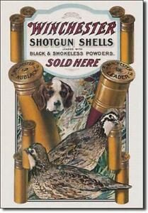 Details about Shotgun/ Rifle Cartridge Remington, Winchester,S&W, Antique  looking Tin signs