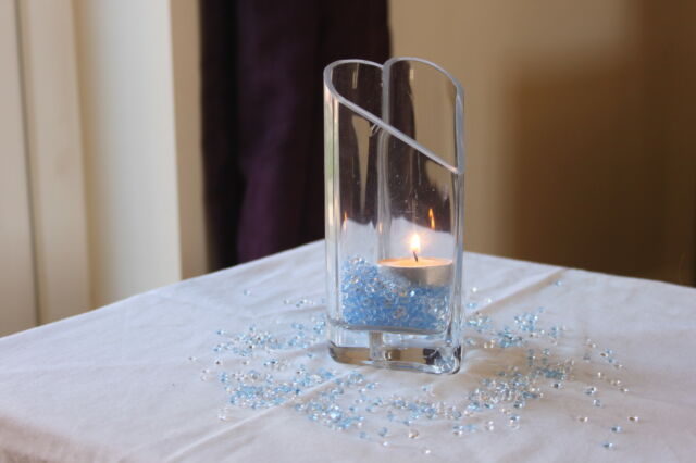 5000 x CLEAR & LIGHT BLUE 4.5MM CHRISTENING DIAMOND CONFETTI TABLE DECORATION