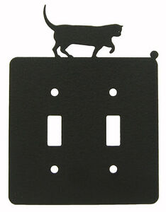 Cat-Double-Switch-Cover-Plate-Black