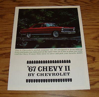 1967 Chevrolet Nova Sales brochure Coupe//Sedan//SS