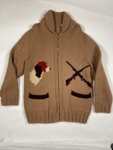 Vintage Cowichan Sweater Beagle