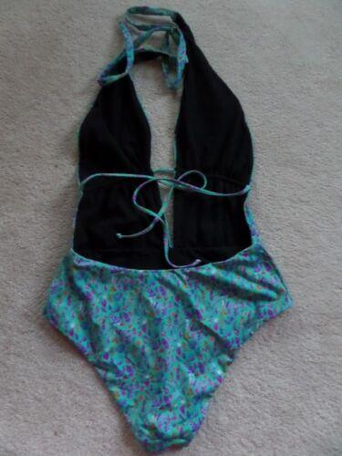 NWT Liberty High Dive Seaside Splendor Reversible 1pc Swimsuit Fronds Sz Large