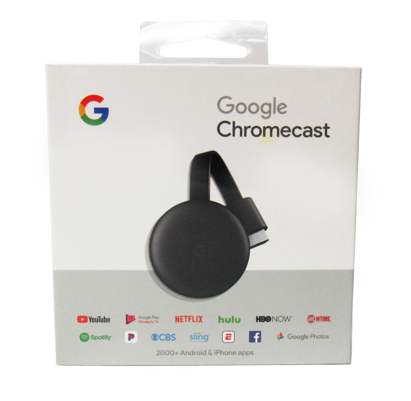 s-l1600 Google Chromecast (3rd Generation) 1080p Streaming Media Player  w/ Wi-Fi