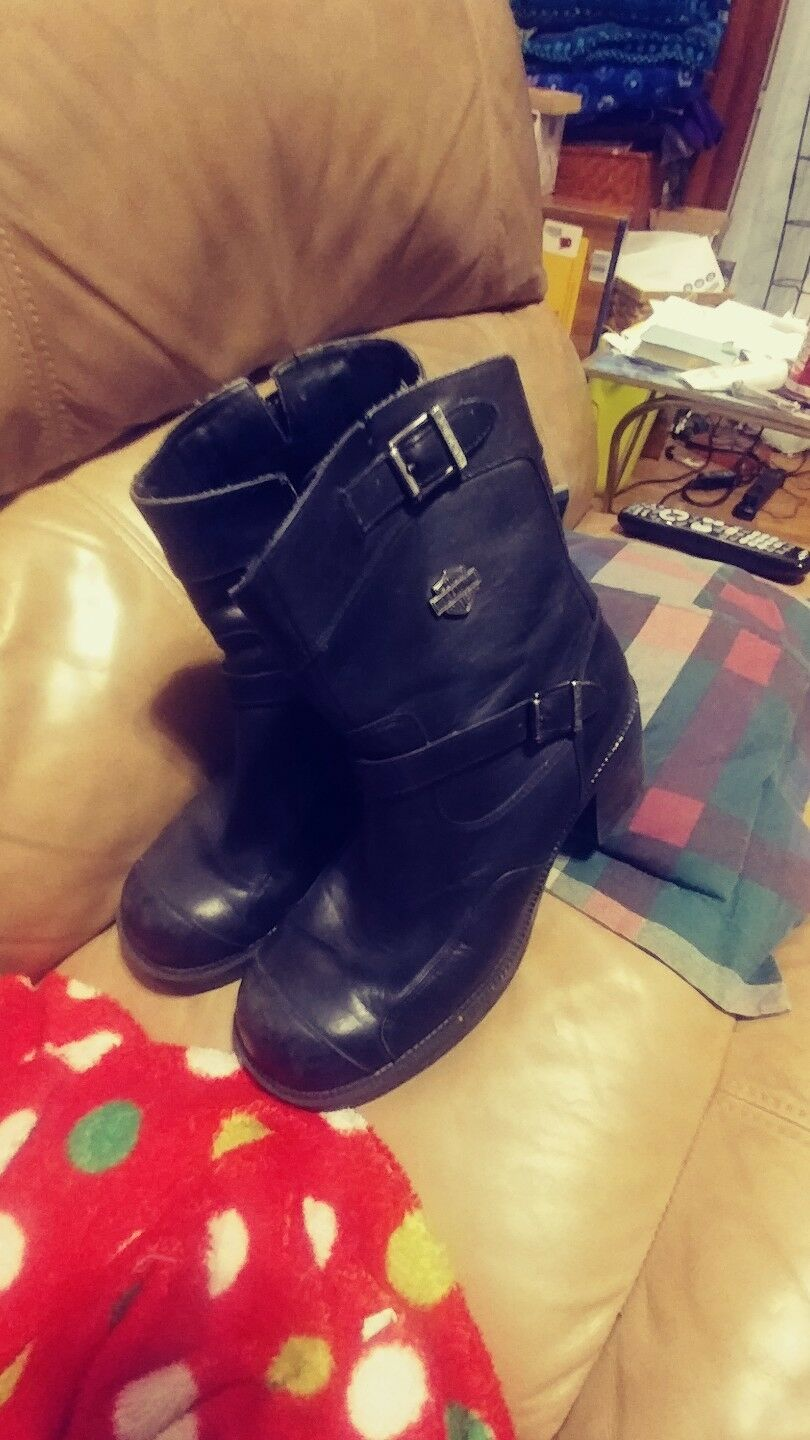 HARLEY DAVIDSON Black Leather GYPSY Boots Womens size 11