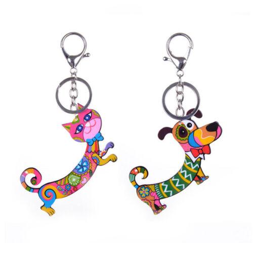 1pc Cartoon Keychain Wallet Car Handbag Pendant Animal Key Ring Accessories NEW