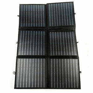 Kings 120w Solar Blanket 12v Folding Panel Kit Black Silicon Boat Mono Camping 660989707514 Ebay