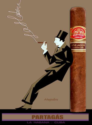 Quality Tobacco POSTER.Cuban Cigar.Partagas Anejado.Havana.Room home decor.q0098