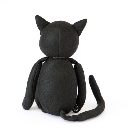 """Black Cat SEWING PATTER 14/"""" Soft Toy Moveable Joints Independent Design Shadow"""