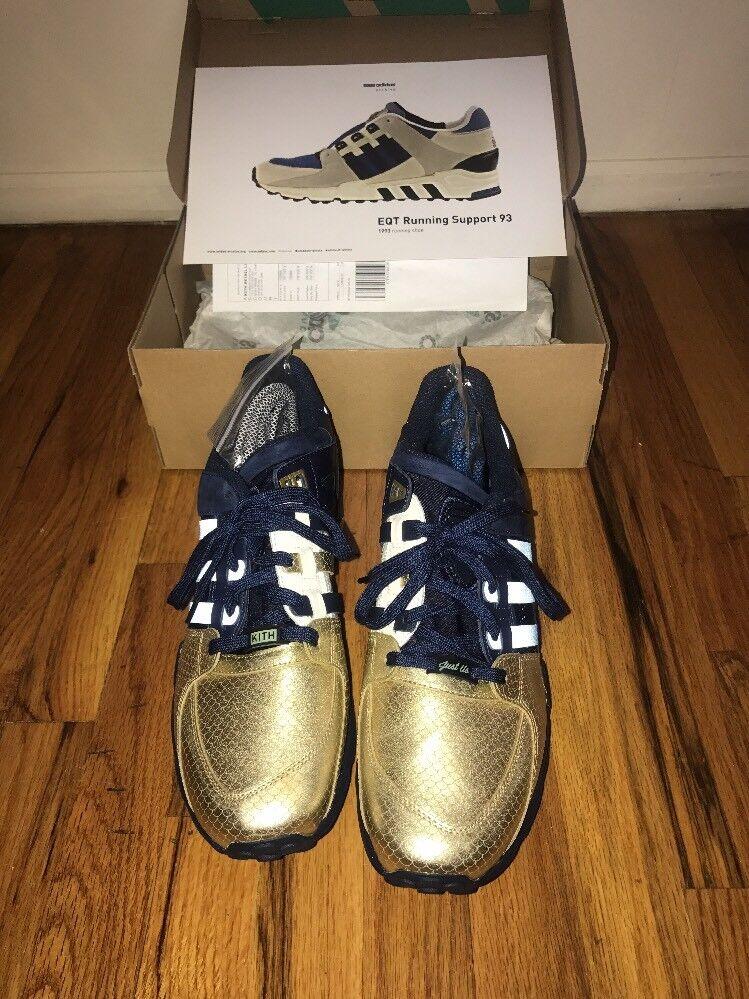 Adidas Consortium EQT corriendo de Apoyo de 93 FIEG Kith tamaño 12,5 Ronnie FIEG 93 oro NYC df5e53