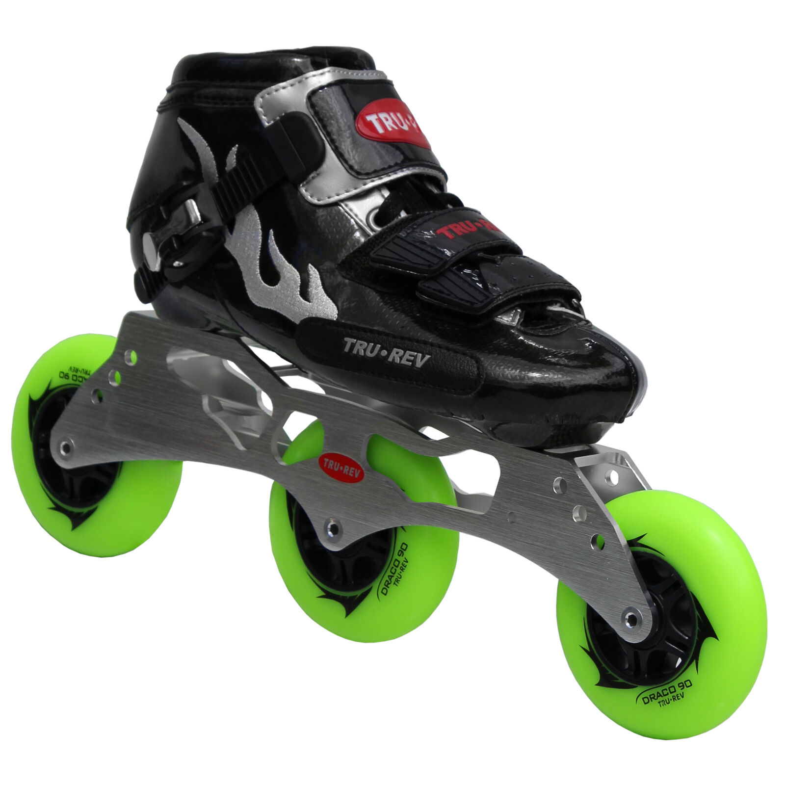 Inline Speed Skates by Trurev. 3 skate frame,ceramic bearings