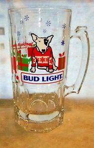 VTG Spuds Mackenzie Christmas Beer Stein Mug HUGE 1987 Ski Budweiser Bud Light