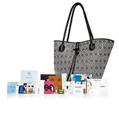Neiman Marcus Black & Beige Camp Gorgeous Tote+13 Beauty Sampleslimited Gwp
