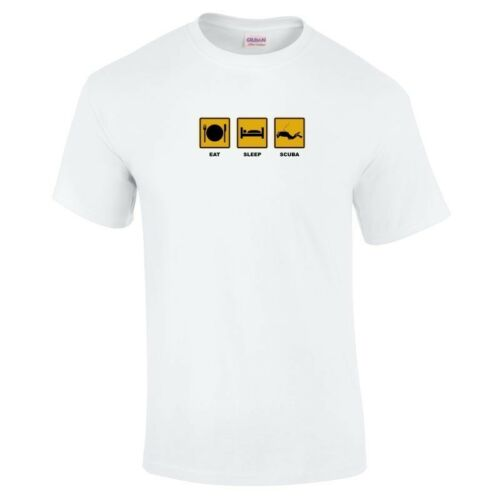 a 5xl Eat Sleep plongée sous-marine Sport Drôle T-Shirt Cadeau 16 couleurs