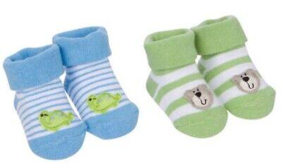 Gerber Newborn Baby Boy Jersey Infant Bootie Socks 4-Pack Size 0-6 Month