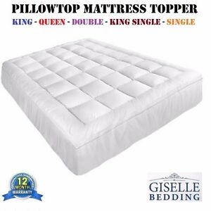 Pillowtop-Mattress-Topper-Memory-Resistant-Microfibre-Protector-Cover-5-Sizes