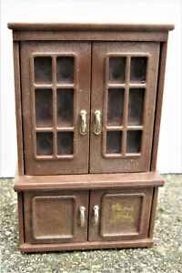 Details About Vintage 1986 Bandai Maple Town Story Dining Room China  Cabinet Hutch Dollhouse