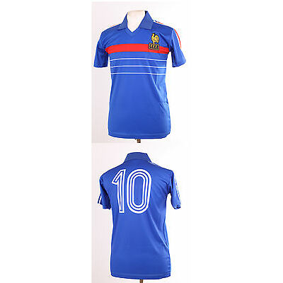 FRANCE EURO 84 1984 PLATINI 10 RETRO FOOTBALL SHIRT MAILLOT LARGE L EURO 2016