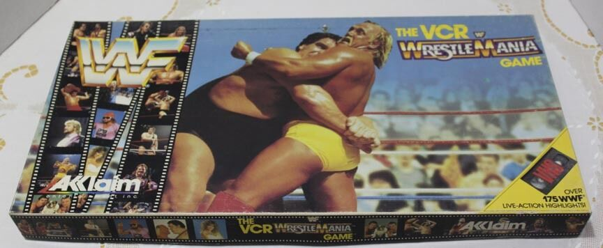 Akklaim WWF Wrestlemania Board Game COMPLETE with VIDEO