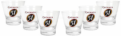 Spirituosen Sonstige Cachaca 51 Tumbler Glas Gläser Set 6x Tumbler 2/4cl Geeicht Caipirinha Cocktail
