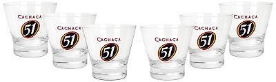 Gläser Cachaca 51 Tumbler Glas Gläser Set 6x Tumbler 2/4cl Geeicht Caipirinha Cocktail