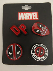Deadpool-Logo-Marvel-Comics-Lapel-4-Pin-Set