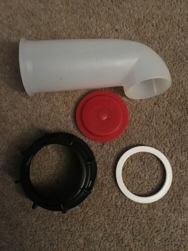 2 X IBC POUR SPOUT BLANK WATER BUCKET STILLAGE TANK OUTLET TAP EXTENSION