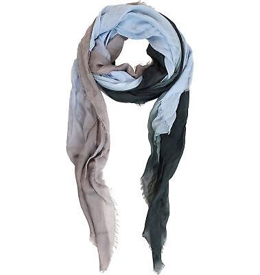 Fleur De Lis Cashmere//Silk Pashmina Scarf NWT $125 Blue Pacific Spain
