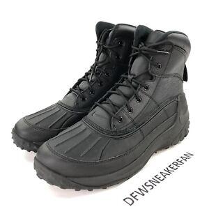 104e08fe3f Nike Kynwood Men s 11.5 Triple Black Waterproof Leather Duck Boots ...