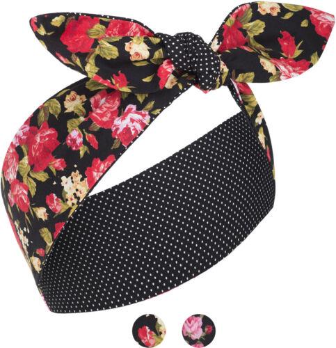 Küstenluder MABEL Vintage Floral ROSES Pin Up 50s HAARBAND Headband Rockabilly