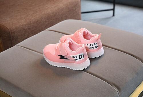 LED Light Baby Boys Girls Kids Running Sneakers Up Luminous Sport Trainer Shoes