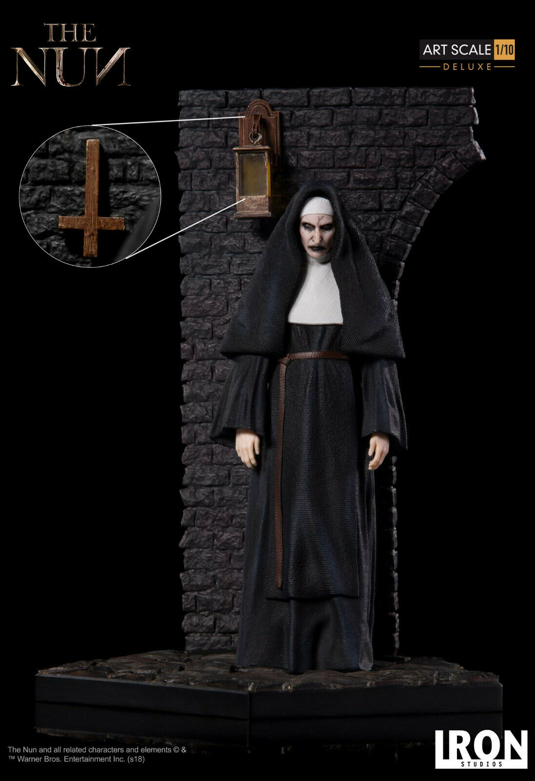 The CONJURING  the NUN DELUXE VERSION ART SCALE 1 10 STATUE 19cm IRON STUDIOS